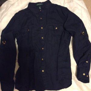 W.Once Ralph Lauren linen shirt.